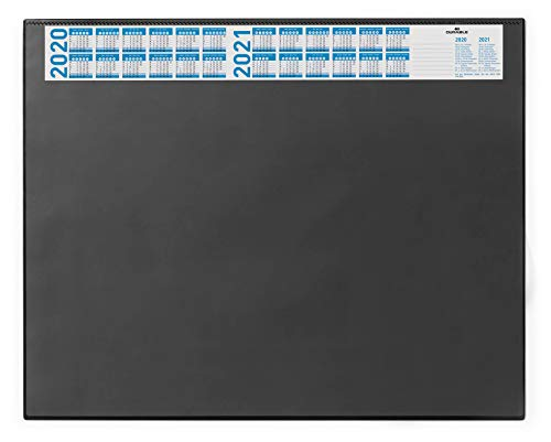 Durable 720401 Schreibunterlage (mit Vollsichtplatte und Kalender, 650 x 520 mm) 1 Stück schwarz