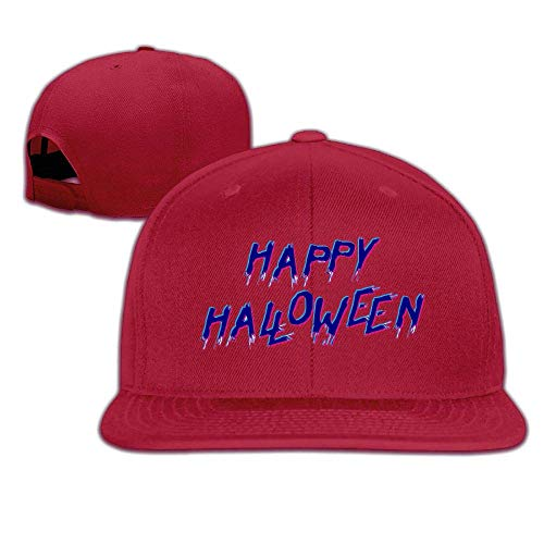 Happy Halloween Hip Hop Baseball Cap Adjustable Flat Brim Hat Outdr Sport Baseball Hat Unisex