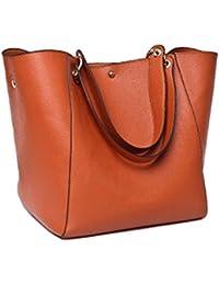 Para mujer Fashion bolso bandolera de piel bolso Messenger Bag de vaca alta capacidad Viajar Bolsa Set