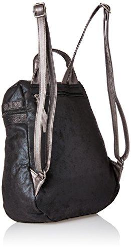 Tamaris Damen Ava Rucksackhandtasche, 15 x 34 x 32 cm Schwarz (Black Comb)