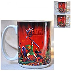The Legend Of Zelda 320 ml Nintendo Legend Of Zelda Ocarina de tiempo taza, color rojo