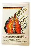 Cartel Letrero de Chapa XXL Agencia De Viajes Vacaciones Museo de Londres