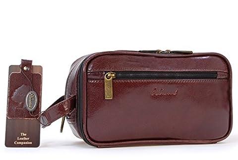 Ashwood Wash Bag / Shaving Bag - Chelsea - Cognac Brown