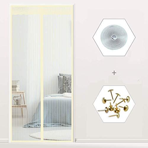 YHEGV Magnetic Screen Door for French Doors,Heavy Duty Mesh Screen Full Frame Magnetic Fly Screen Door Bug Insect net Curtain-D 120x200cm(47x79inch) -