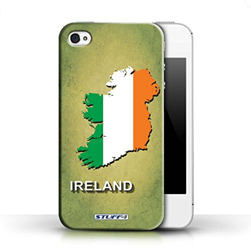 Kobalt® Imprimé Etui / Coque pour Apple iPhone 4/4S / Argentine conception / Série Drapeau Pays Irlande/irlandaise