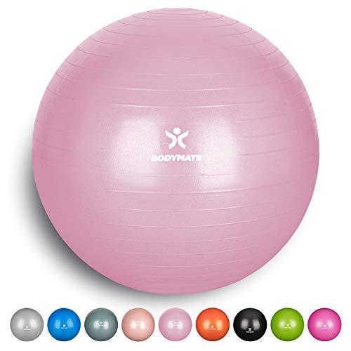 Preisvergleich Produktbild BODYMATE Gymnastikball mit GRATIS E-Book inkl. Luft-Pumpe Princess-PINK 85cm