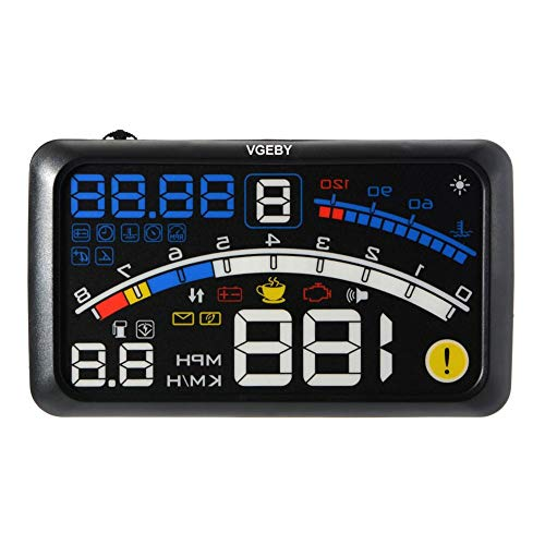 VGEBY Universal HUD GPS Head Up Display Auto Mit OBD