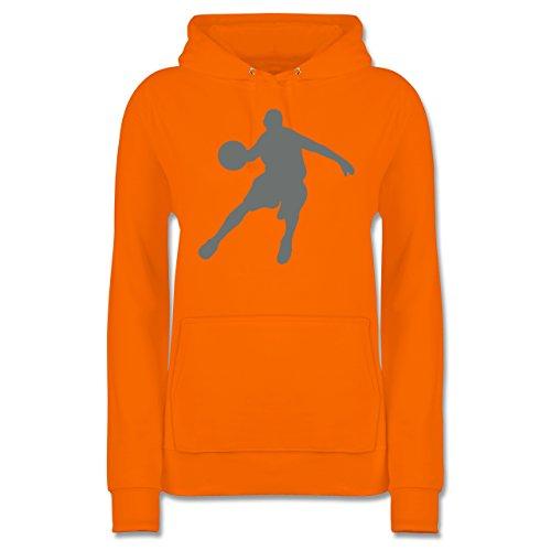 Shirtracer Basketball - Basketballspieler - L - Orange - JH001F - Damen Hoodie