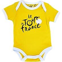 Body bebé Le Tour de France de ciclismo–Collection officielle–Talla bebé niño, color amarillo, tamaño 6 meses