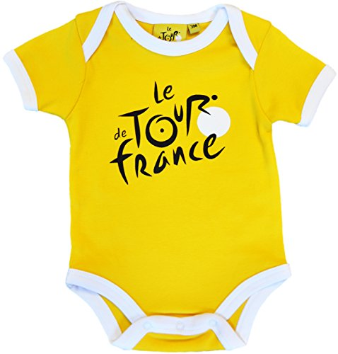 Body bebé Le Tour de France de ciclismo – Collection officielle – Talla bebé niño, color amarillo, tamaño 6 meses