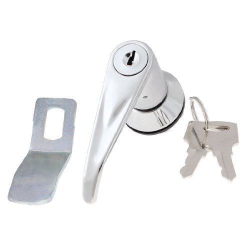 sourcingmap® Rotierende Griff Metall Einbaustrahler Security Lock 8.13 cm, 2 Schlüsseln, für Schranktür