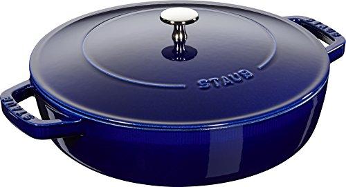 Staub 40511-476-0–Olla con Tapa, en Hierro Fundido, Color Azul Oscuro, 28cm