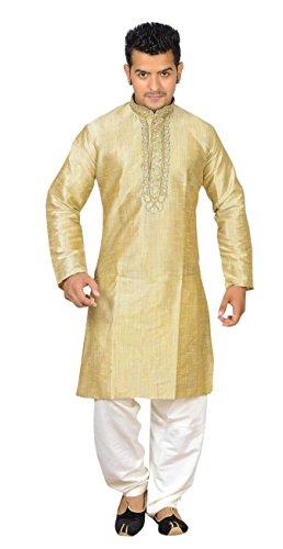 Preisvergleich Produktbild Herren Indian Gold Sherwani Kurta Kameez für Bollywood Thema & Kostüm Party Geschäften Bradford London 766