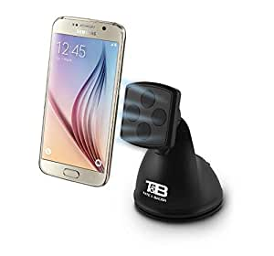 Tate & Ba ¼er Elite Cradle-less Magnetic Car Phone Holder, Dashboard or Windshield Mount for Iphones, Samsung Note, and all Tablets