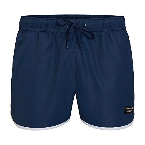 Bjorn Borg Emblématique Sandro Athletic Shorts De Bain Homme, Insigne Bleu Petit
