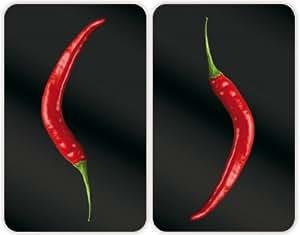 WENKO Abdeckplatte Hot Peperoni 2er Set