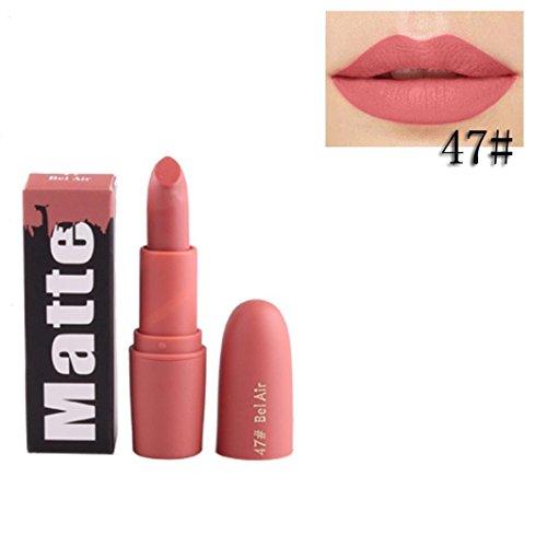ESAILQ Lippenstift Feuchtigkeitscreme Smooth Lips Stick Langlebig Charming Lip Lipstick Kosmetik