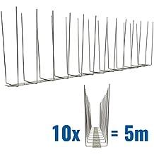 5 metri Dissuasori di picchi anti-gabbiani V2A-Titan con base di acciaio inossidabile - 2-striscia di Picchi antigabbiani la soluzione di qualità per il controllo di uccelli