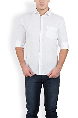Blue Fire Men's Plain Full Sleeve Slim Fit Cotton Casual Shirt(BF005740)  available at amazon for Rs.349