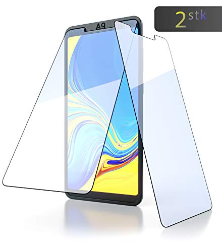 innoGadgets Panzerglas für Samsung Galaxy A9 2018 (2X) mit Positionierhilfe innoFrame | Extrem dünn, Ultra hart [9H] 100% transparent | Panzerfolie, Panzerglasfolie – Einfaches Anbringen ohne Bläschen