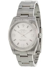 Rolex Oyster Perpetual Air-King 114234 18K White Gold Bezel SS Automatic Men's Watch
