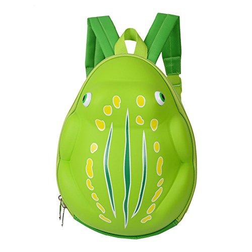 (Pro Kinder Rucksack Wasserdicht 3D Cute Cartoon Frosch Shell Bag Phosphoreszierendes für Kleinkinder Schule Kindergarten grün grün)