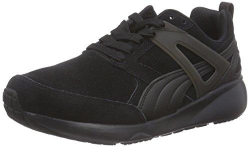 Puma ARIAL SUEDE Unisex-Erwachsene Sneakers Schwarz (black-marshmallow 01)