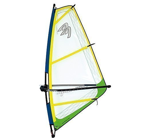 Ascan Pro Rigg Gelb/Grün Kinder- Jugend- Damen Windsurfsegel komplett Segel + Mast + Gabel surfshop24 (4.5)