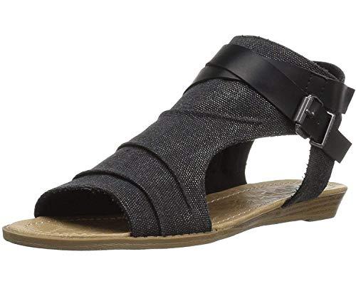 Minetom Sandales Femmes Plates-Bouts Ouverts Femme Sandales Plat Lacets Sandales Mode Chaussures Été Tongs