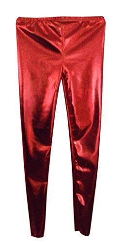 GW Fashions - Leggings - para niña Rojo rosso