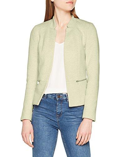 ONLY Damen Anzugjacke Onlstory Mel Zip Blazer CC Tlr, Grün (Lichen Detail: Melange), 36