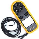 WINGONEER® LCD de velocidad del viento de calibre medidor anemómetro ntc termómetro