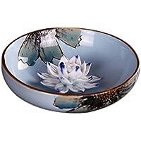 Lotus ceramica bruciatore di incenso piatto incenso mano turibolo di incenso di ceramica con gli ornamenti incenso stradali accessori per la casa,b