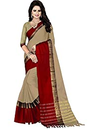 Calendar Catalog 2018 Latest New Collection Party Wear Cotton Silk Sarees For Women Latest Design (CHIKU)