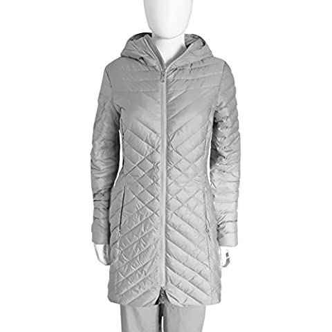 The North Face karokora Parka piumino giacca lunga, colore: argento metallizzato, donna, Karokora, Metallic Silver, L