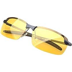 TININNA UV400 Gafas de visión nocturna lente polarizada antideslumbrante Gafas Anteojos gafas de sol brillo amarillo gafas de conducción Para Esquiar Golf Correr Ciclismo TR46 Súper Liviana Para Hombre y Mujer.