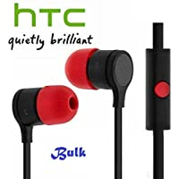 HTC Rc E295 Phf New Black Red Stereo Earphones 3.5Mm