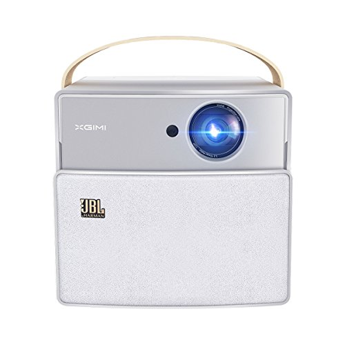 XGIMI CC Aurora 720P Portable Smart Mini Video Projector  350 Ansi Lumens Wifi Bluetooth Speaker  LED Pico Projector for Smart Devices  180  picture  Android OS  JBL Stereo