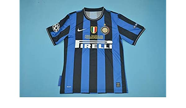 Patch BROOK Sneijder#10 Inter Milan Home Retro Soccer Jersey 2010-2011 Full UCL