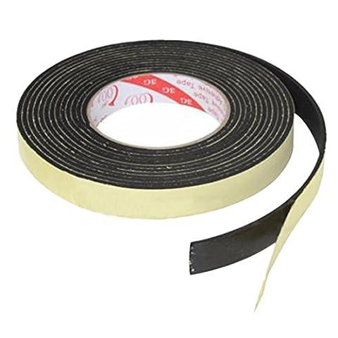 Noir auto-adhesif Ruban mousse - SODIAL (R)5m Noir Simple face auto-adhesive Ruban mousse a 20 mm de large x Cellules de 3 mm d