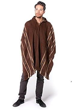 Gamboa - Poncho Rústico de Alpaca para Hombre - Disponible en Varios Colores