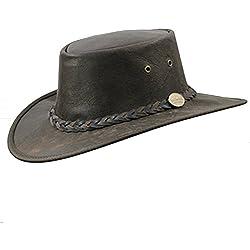 Barmah Sombrero de cuero de canguro australiano (L 58–59cm)