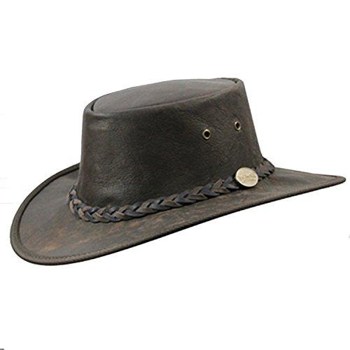f6409a330617b Barmah Sombrero de cuero de canguro australiano (L 58 - 59 ...