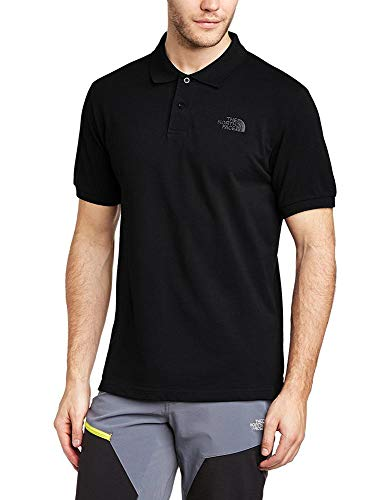 The north face, m polo piquet, polo, uomo, nero (tnf black), l