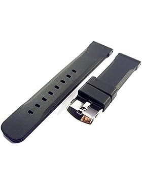 ZeitPunkt-Silikonband sportlich schwarz 20 mm