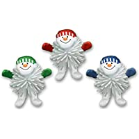 24 Christmas Party Woolly Snowman Figure Favours Loot Plastic Toys