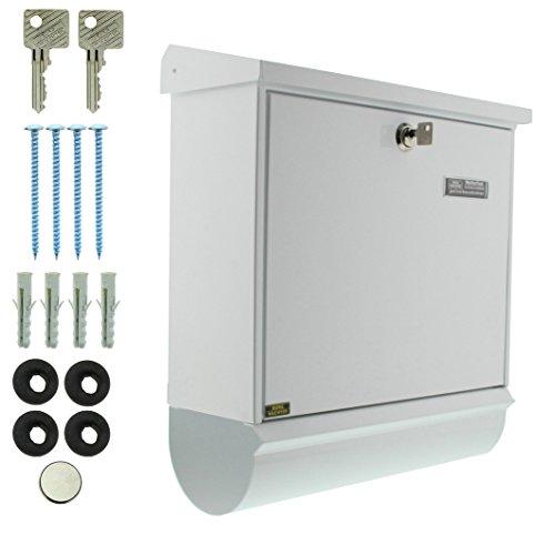 BURG-WÄCHTER, Briefkasten-Set mit integriertem Zeitungsfach, A4 Einwurf-Format, Verzinkter Stahl, Comfort-Set 91300 W, Weiß - 4