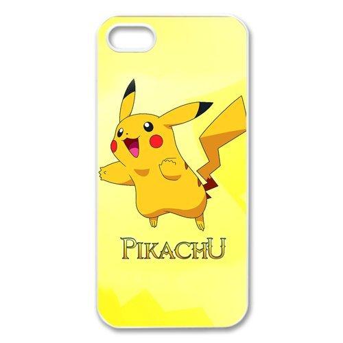 iPhone 5S Case, iPhone 5. Pokemon Pikachu de Apple iPhone 5/iPhone 5S Case Coque de protection Case TPU Étui Coque de Protection pour iPhone 55S (Blanc/Noir)