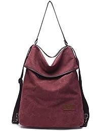 ebdd355b7f5 Travistar Bolsos Mujer Mochilas-Vintage Bolsos Bandolera Grandes  Multifuncional Lona Tipo Casual