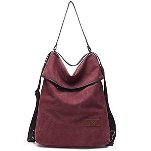 412n2smtyEL. SS300  - Travistar Bolsos Mujer Mochilas-Vintage Bolsos Bandolera Grandes Multifuncional Lona Tipo Casual